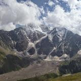Le Caucase depuis Cheget, 2800 m (Terskol, Kabardino-Balkarie), 12 août 2014. Photo : J. Marquet