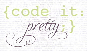 code it pretty - click for home