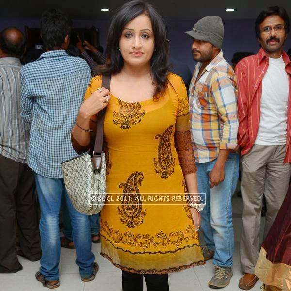 Priya during a filmi event, held in Hyderabad.