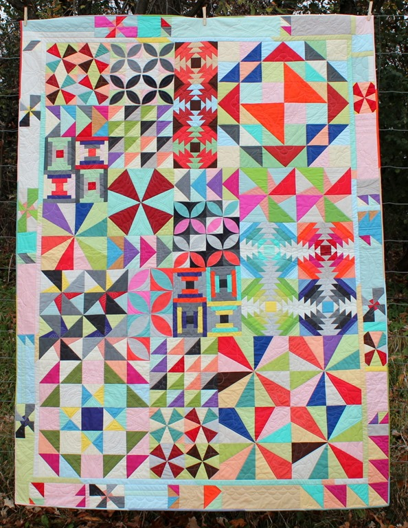 Bella Skill Builder Quilt by Kim Lapacek, Quilted by Mandy Leins