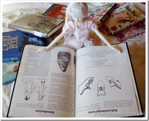 Ball Jointed Doll Reading Book About Doll Shoes