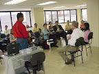 Participantes ouvem experiências de trabalho em rede.