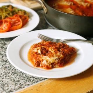Baked Spaghetti Squash Bolognese