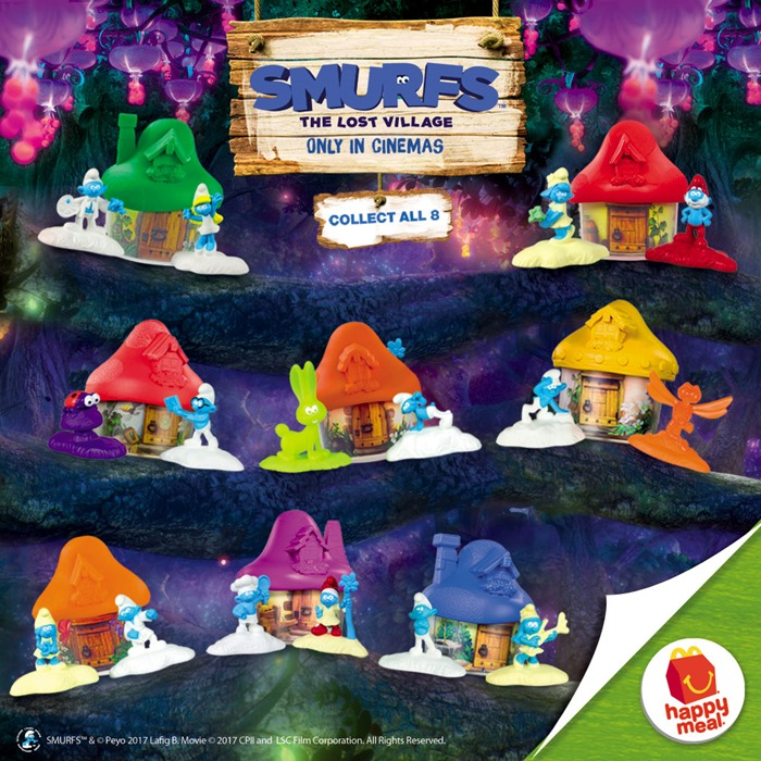 Smurfs Happy Meal McDo Philippines