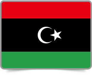 Libyan framed flag icons with box shadow