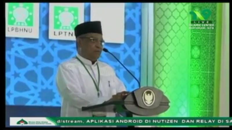 Pidato Prof. Dr. KH. Said Aqil Siroj di Pembukaan Munas-Konbes Nahdlatul Ulama