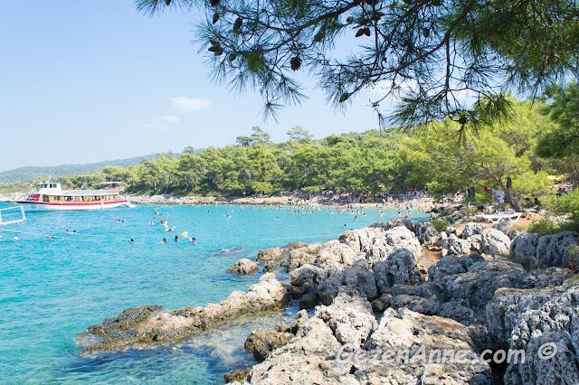 İncekum plajı manzarası, Marmaris