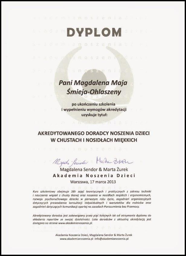 Dyplom akredytowany doradca