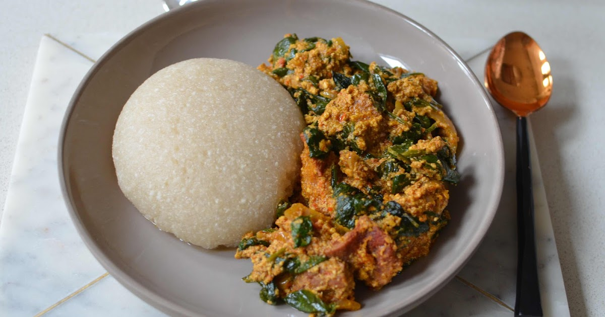 Ndudu by Fafa: EGUSI AND EBA RECIPE (NIGERIA)