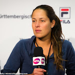 STUTTGART, GERMANY - APRIL 21 : Ana Ivanovic talks to the media at the 2016 Porsche Tennis Grand Prix