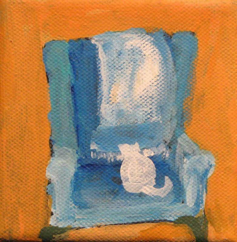 """ ""Feline Contemplation 2"" Acrylic"