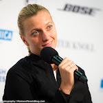 STUTTGART, GERMANY - APRIL 19 : Petra Kvitova talks to the media at the 2016 Porsche Tennis Grand Prix