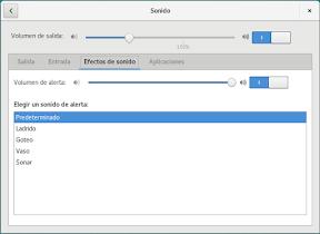 Configurar el hardware en GNOME. El sonido. Efectos.