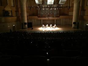 At the Forbidden City Concert Hall in Beijing.
