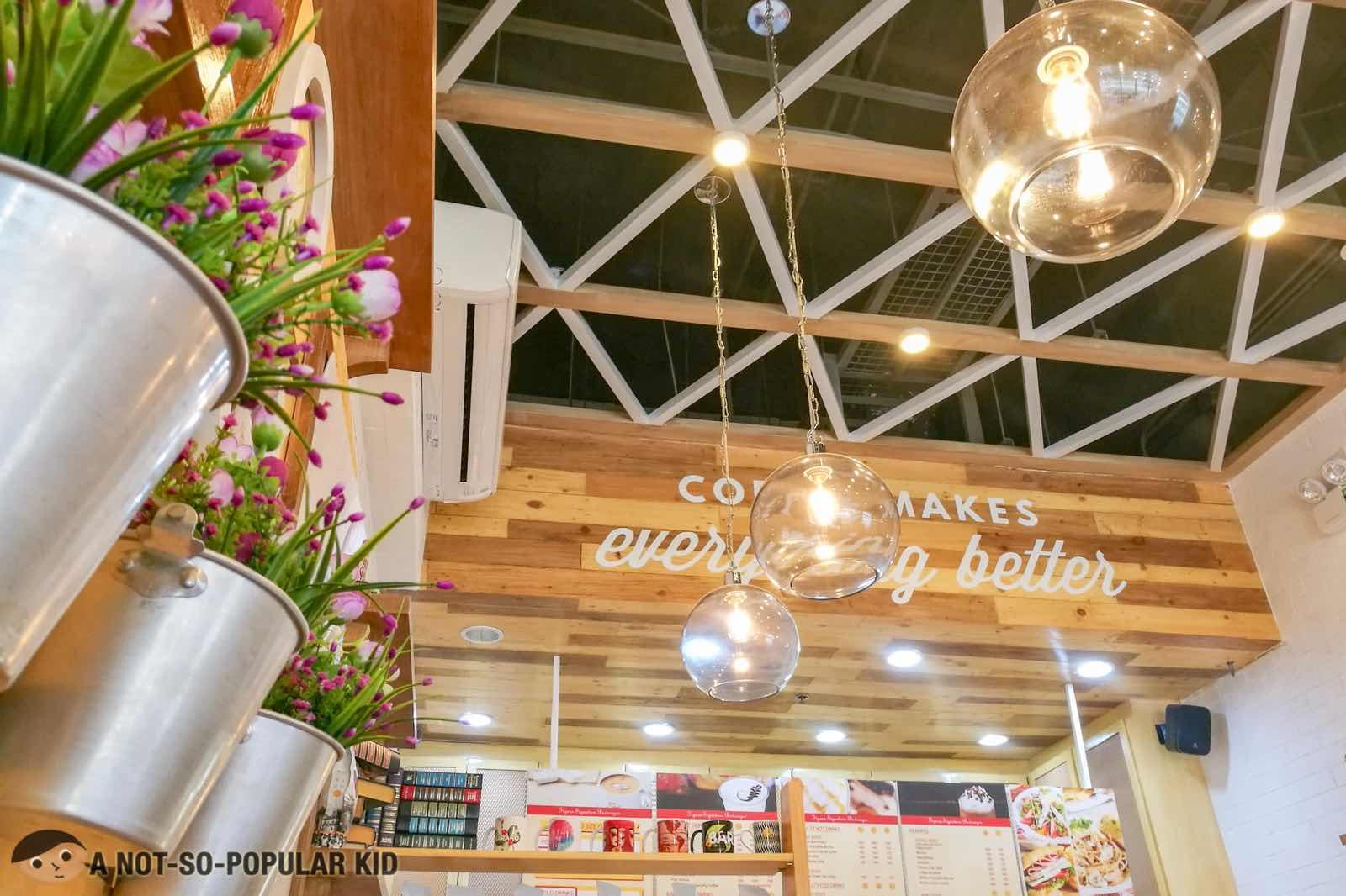 Bright and beautiful interior of Figaro in BGC