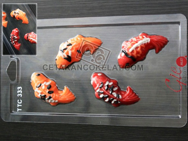 cetakan coklat cokelat ikan koi hewan binatang TTC333