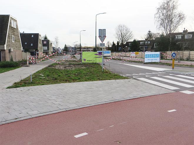 voorbereiding onderdoorgang spoor Leijenseweg Bilthoven