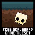 zombie graveyard platformer game tileset