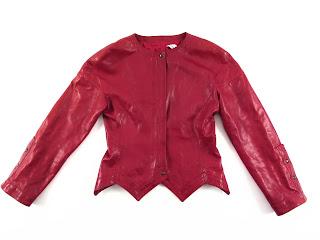 Balenciaga Red Leather Jacket
