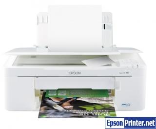 How to reset Epson ME-330 printer