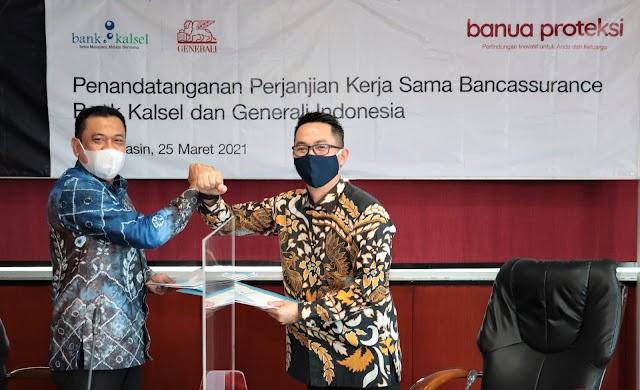 Bank Kalsel Kolaborasi dengan Generali, Luncurkan Asuransi Jiwa Banua Proteksi