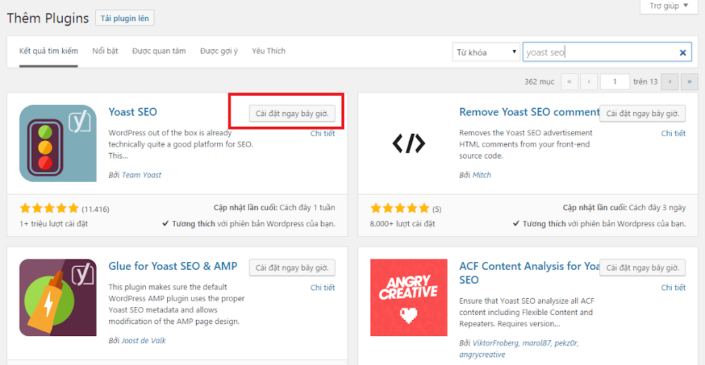 Hinh anh: Cai dat mot plugin moi cho WordPress