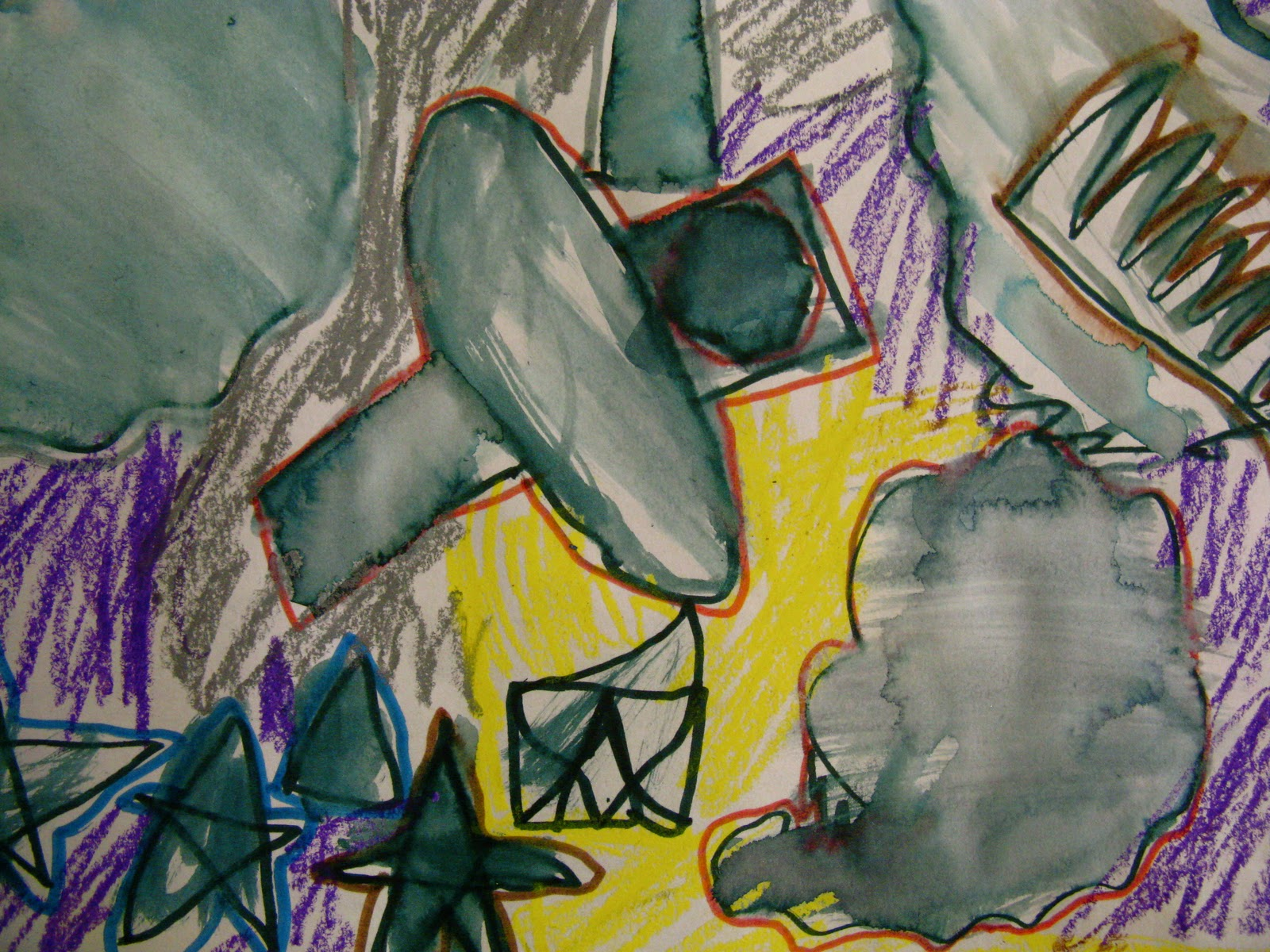 Simple Abstract Shape Art By K Amp 1st Grade