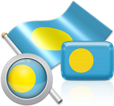 Palauan flag icons pictures collection