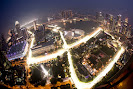 View over the Marina Bay Street Circuit from the Swissotel The Stamford