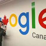 drinking beers at Google HQ in Toronto, Ontario, Canada