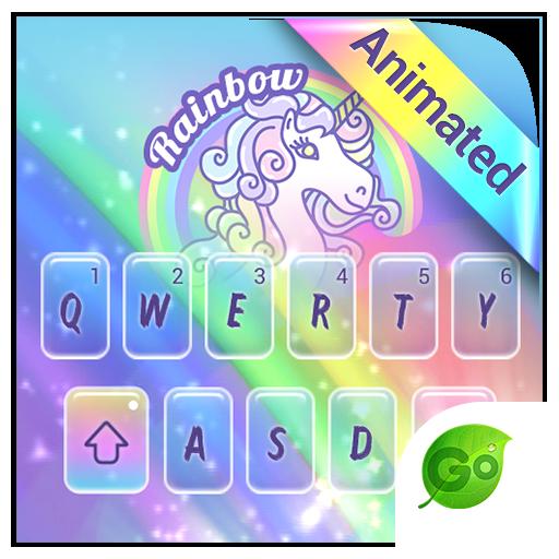 Rainbow Unicorn GO Keyboard Animated Theme