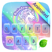 Rainbow Unicorn GO Keyboard Animated Theme