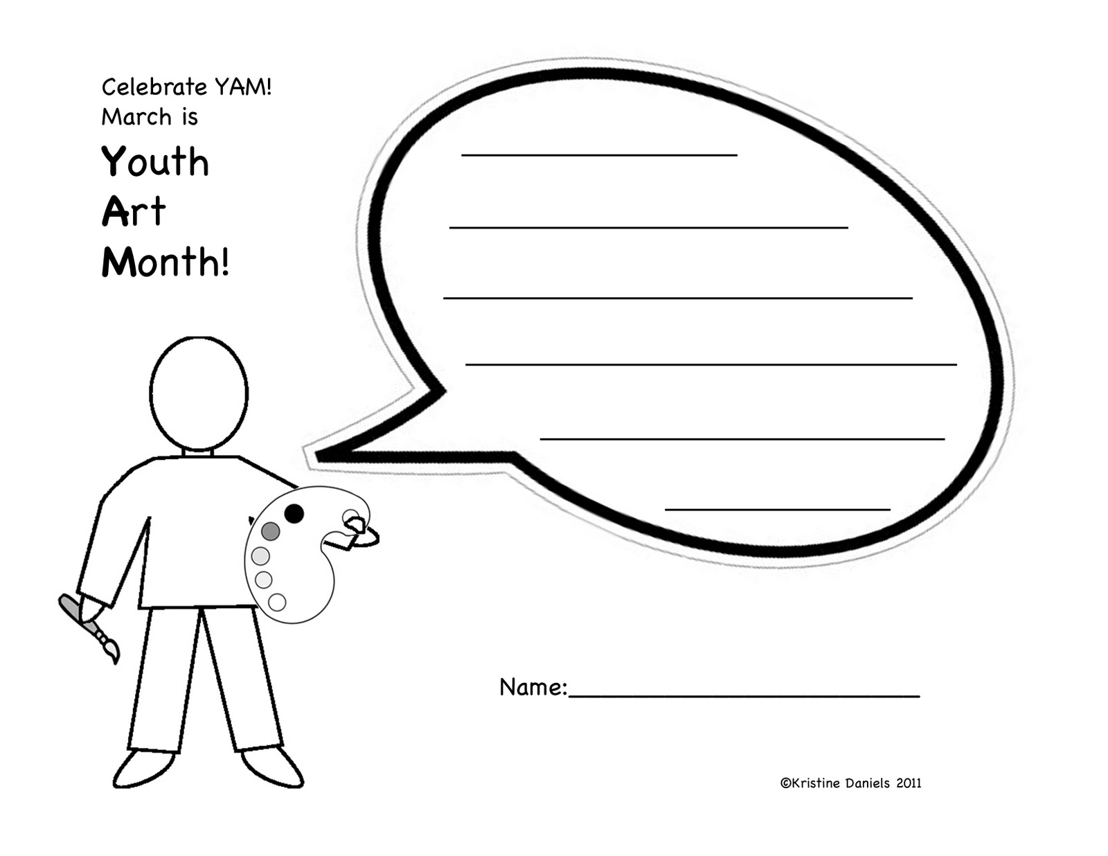 Blank Person Template For Kids A cartoon person that kids