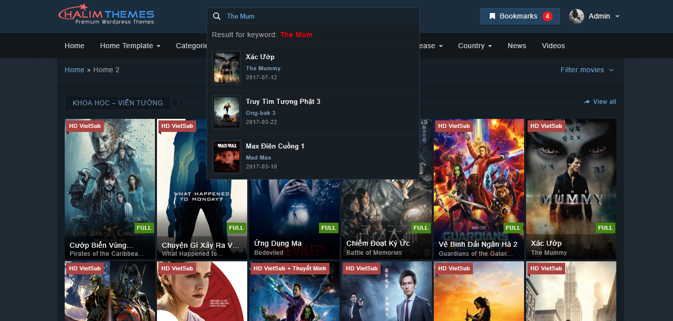 HaLimMovie – WordPress Movies and TV Shows Theme