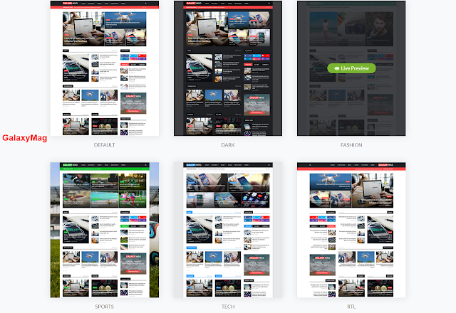 Download GalaxyMag - Responsive News & Magazine Blogger Template