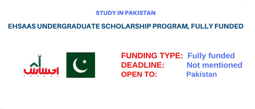 Ehsas Scholarship 2021