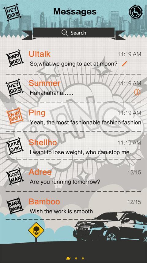 Скриншот GO SMS PRO BANG THEME