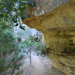 Valley of the waters track under the cliff (94876)
