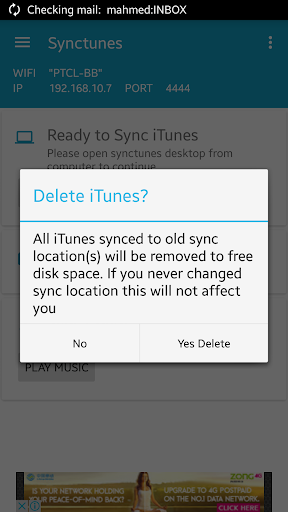 Synctunes: iTunes to android 1.3 screenshots 6