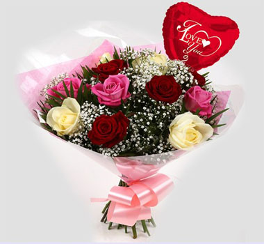 I love You Red and Pink Roses - one of the most loved flower gifts