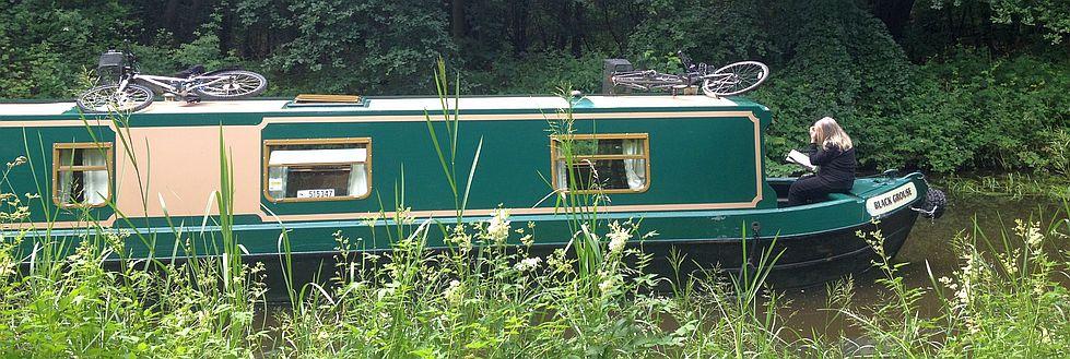 Boot auf dem Union Canal bei Edinburgh
