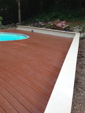 Shaboo Ct Cleaning Llc Sanding And Staining Deck In