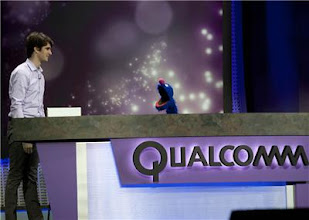 Photo: Sesame Street's Grover at Qualcomm's event - Photo by James Martin