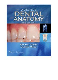 Woelfels Dental Anatomy 8th Edition BOOK PDF FREE DOWNLOAD DENTAL BOOKS