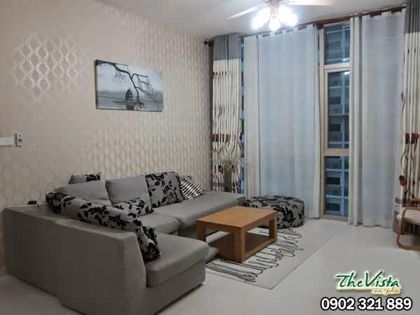 Cho thuê căn hộ 3 phòng ngủ giá 1200usd/tháng tại The Vista Quận 2