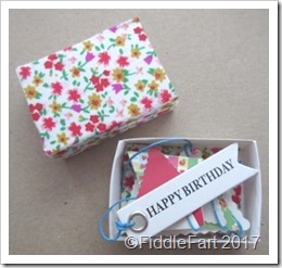 Birthday Bunting Matchbox a