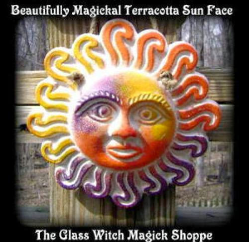 Beautifully Magickal Terracotta Sun Face Ff 15 00