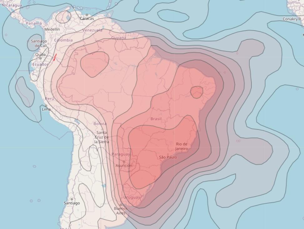 Mapa de Cobertura 75w