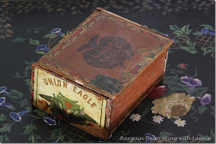 Vintage Cigar Box in Coffee Table Vignette