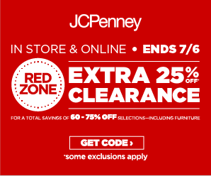 JCPenney Extra 25% off Clearance Coupon